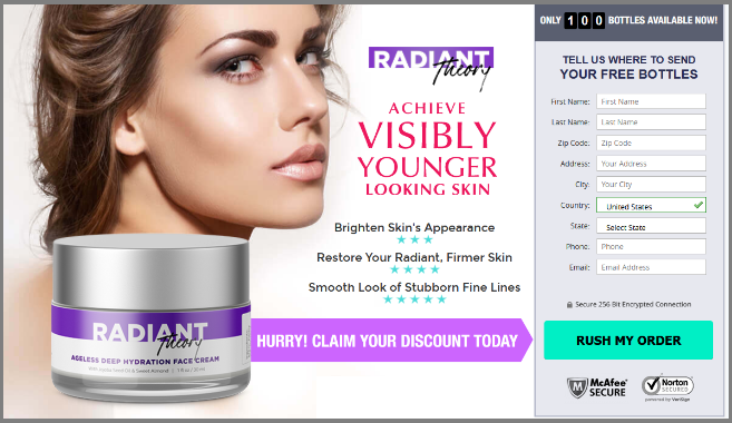 Radiant Theory Cream Cost
